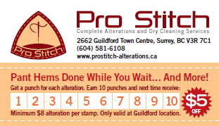 Alterations pro stitch clothing alterations embroidery we truly appreciate your business reheart Choice Image